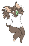 Tired Couch Potato (Chibi Commission) by BeastOfEuthanasia