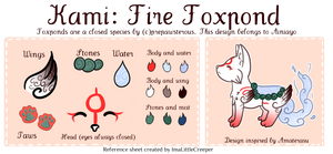 Kami- Reference Sheet Commission for ainiayo by ImaLittleCreeper