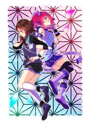 [Art Trade] Chantelle and Mysterika by Sweetmeloday