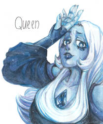 The Queen - Blue Diamond by Jewellier