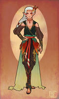Art Nouveau Hyrule Warriors Impa by AeternumLuminis