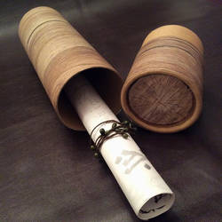 Wood Log Postal Tube by Faunwand