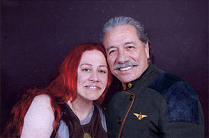 Edward James Olmos and me by Faunwand