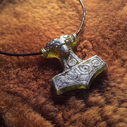 Mjolnir Pendant by Faunwand