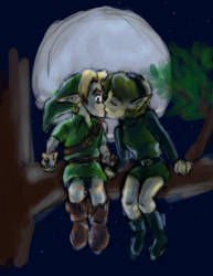 LoZ: Link and Saria Doodle by justira