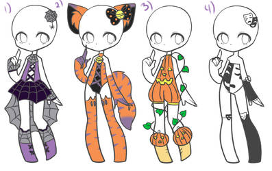 Halloween Outfits *Closed* by Canaddicted