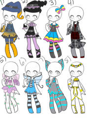 Halloween Adopts 02 *Closed* by Canaddicted