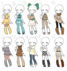 Fall Adopts 01 *Closed* by Canaddicted