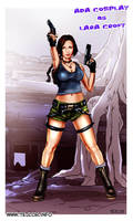 Ada Cosplay as Lara Croft by tejlor