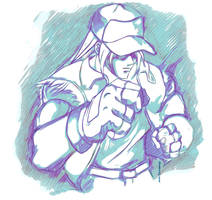Terry Bogard sketch by andre-tachibana