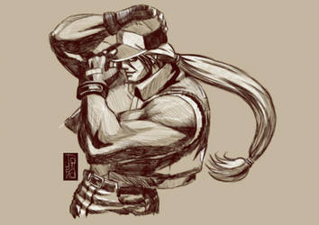 terry bogard sketch I by andre-tachibana