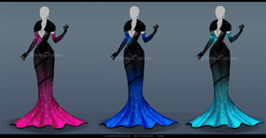 (closed) Outfit Adopt - 633 (3 diff. colors) by CherrysDesigns