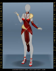 (closed) Outfit Adopt 700 - Sekhmet by CherrysDesigns