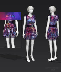 3D - 80s Party dress by CherrysDesigns