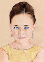 Alexis Bledel (colored pencil) by julesrizz