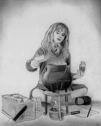 Hermione Granger (Graphite Drawing) by julesrizz