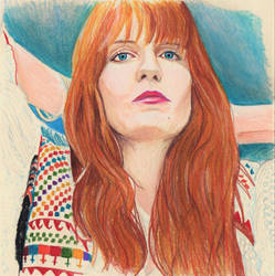 Florence Welch (Colored Pencil Sketch) by julesrizz