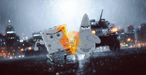 Sponge Boblefield and Patrick by SkeeTls