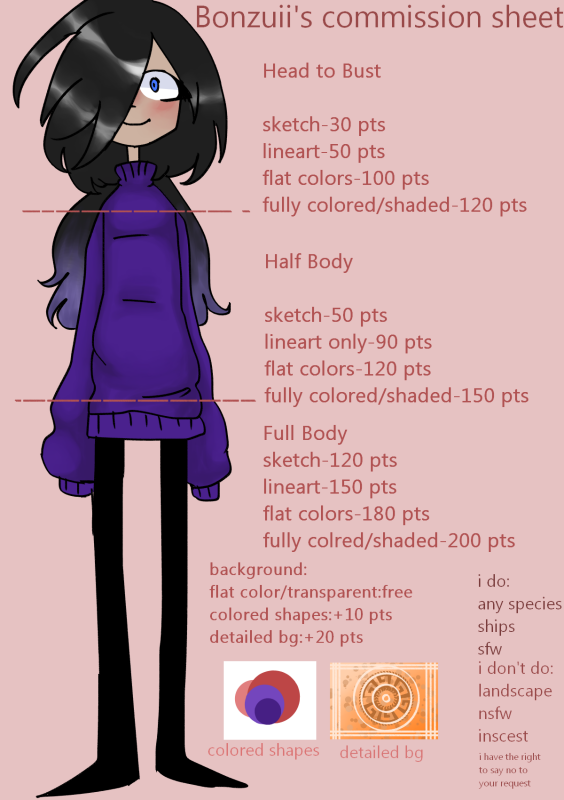 Commission Sheet by dontjudgeYT