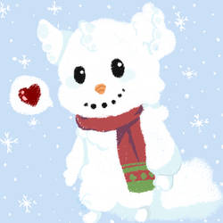 Snowman Folklore Icon Chibi by TheYUO