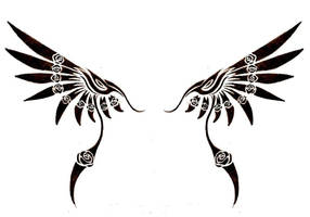 Tribal Wing by SweetnThimble
