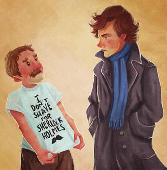 I Don't Shave For Sherlock Holmes by vincentsdeviantart