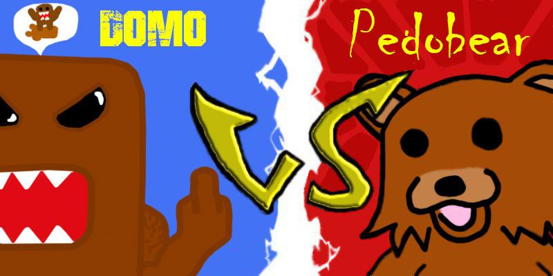 domo vs pedobear fight 3 by aethusyt on deviantart