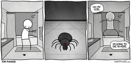 Happy Jar - Spider by tomfonder