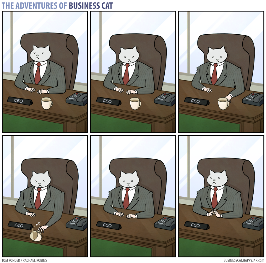 The Adventures of Business Cat - Coffee by tomfonder