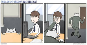 The Adventures of Business Cat - Fight and Flight by tomfonder