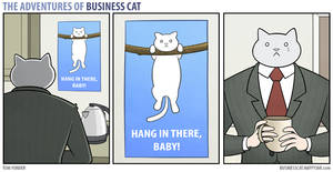 The Adventures of Business Cat - Poster by tomfonder