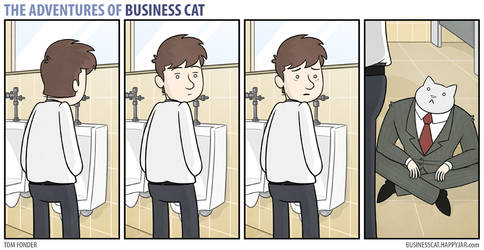 The Adventures of Business Cat - Employee Bathroom by tomfonder