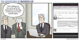 The Adventures of Business Cat - E-Mail by tomfonder