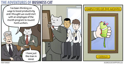 The Adventures of Business Cat - Employee OT Month by tomfonder