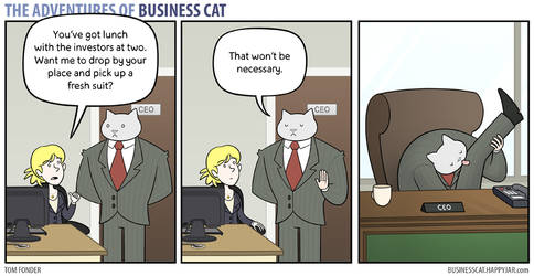 The Adventures of Business Cat - Preparations by tomfonder