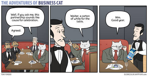 The Adventures of Business Cat - Drinks by tomfonder
