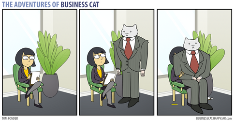 The Adventures of Business Cat - Lap by tomfonder