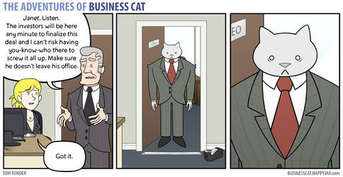 The Adventures of Business Cat - Taped In by tomfonder
