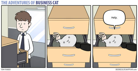 The Adventures of Business Cat - Drawer by tomfonder