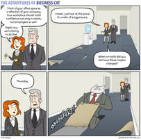 The Adventures of Business Cat - Carpet by tomfonder