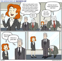 The Adventures of Business Cat - Decisions by tomfonder