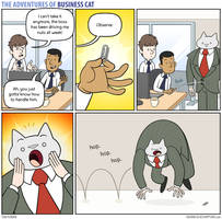 The Adventures of Business Cat - Paperclip by tomfonder