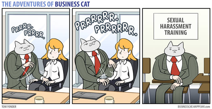 The Adventures of Business Cat - Kneading by tomfonder