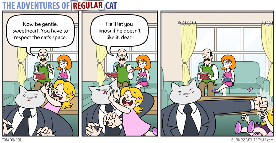 The Adventures of Regular Cat - Gentle by tomfonder