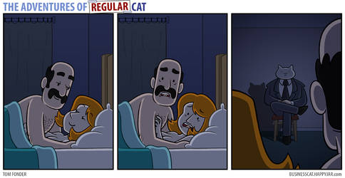 The Adventures of Regular Cat - Voyeur by tomfonder