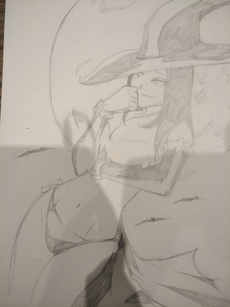 Witch sketch at a cafe in Japan by TeamAmazing