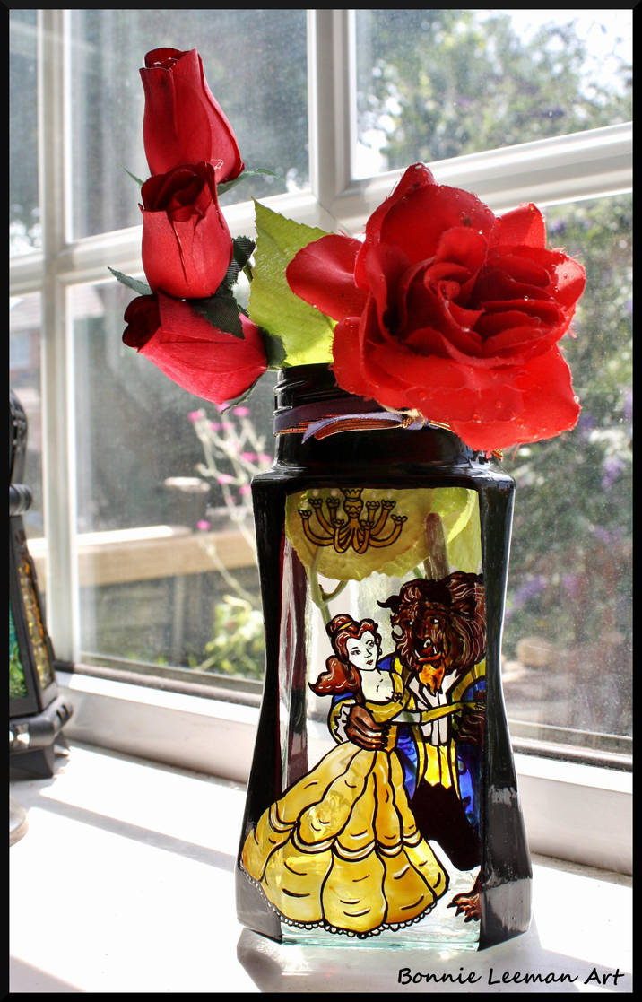 Beauty And The Beast Painted Vase By Bonniemarie On Deviantart