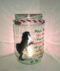 The Grinch candle holder by Bonniemarie