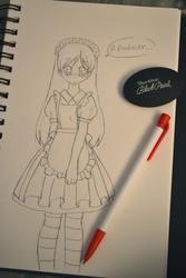 Meruhen Maid Chihaya sketch by Moniquekat
