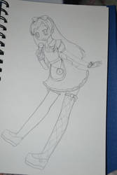 Dressy Alice Chihaya sketch by Moniquekat
